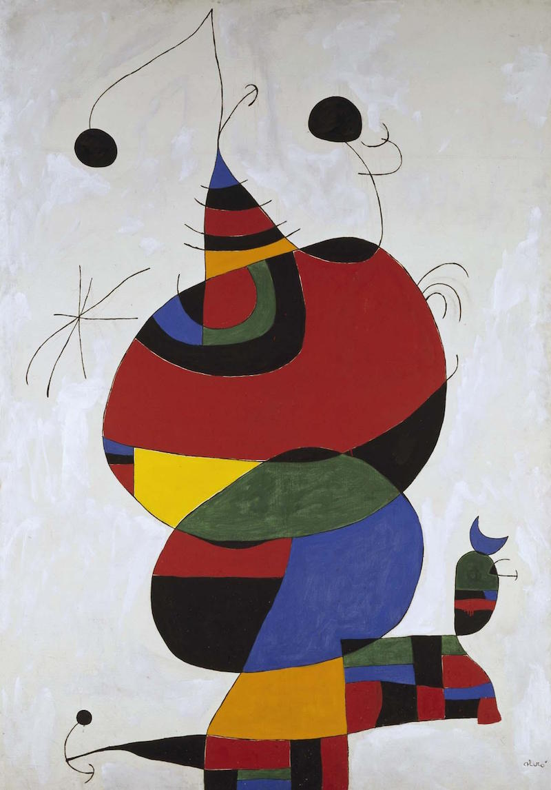 Woman, Bird and Star [Homage to Picasso]